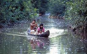Indiens Waraos dans le delta de l'Orénoque Venezuela