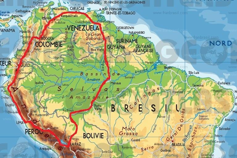 Tour de l'Amérique du sud en KLR part I Route